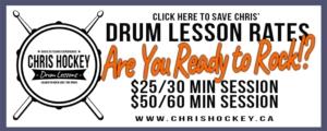 Chris Hockey Drum Lessons Rates