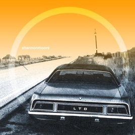 album cover Shannon moore car with orange sky